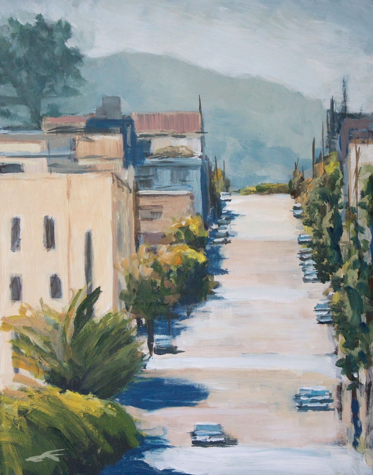 """Sixteenth Street"" original fine art by J. Farnsworth"