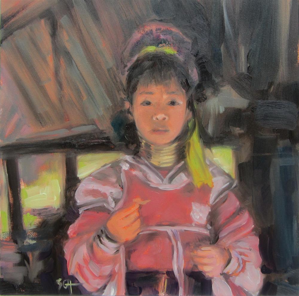 """Thailand girl #141"" original fine art by Sandy Haynes"