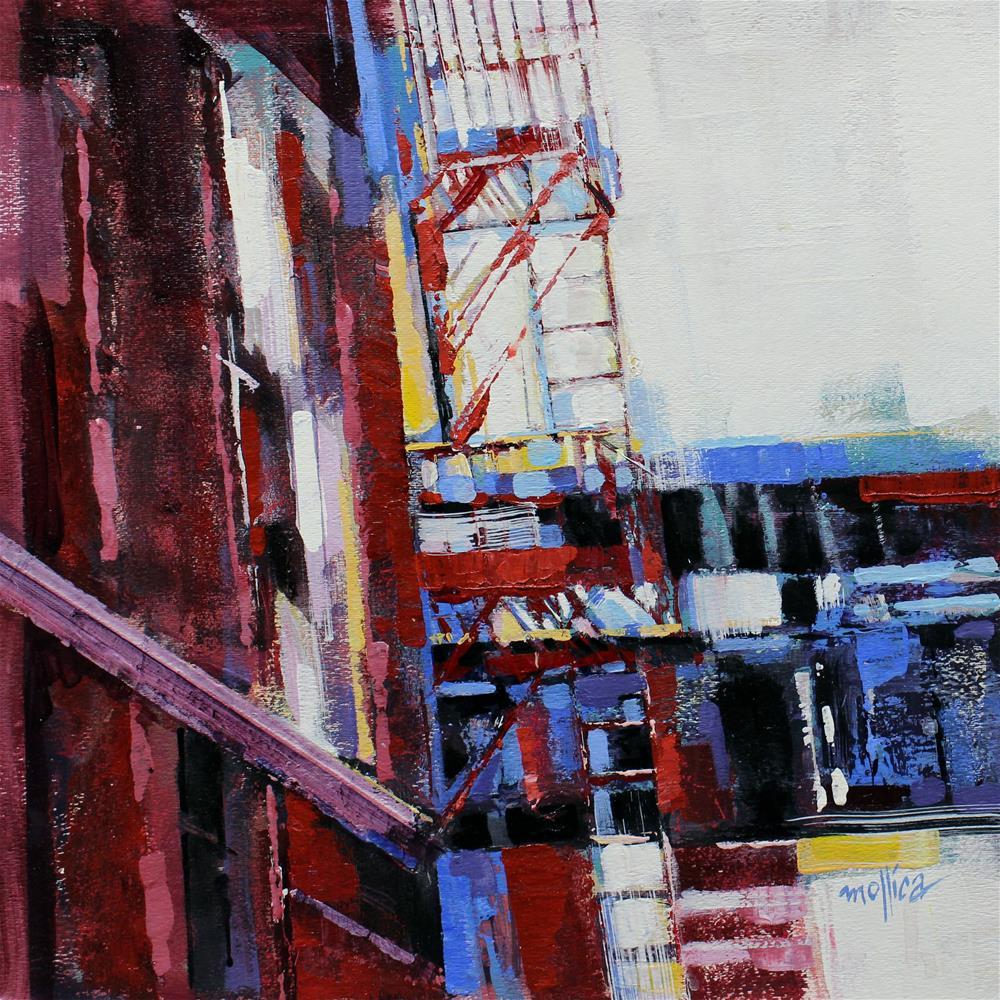 """""""Chelsea Fire Escapes"""" original fine art by Patti Mollica"""