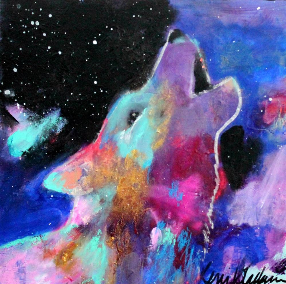 """Wolf Call"" original fine art by Kerri Blackman"
