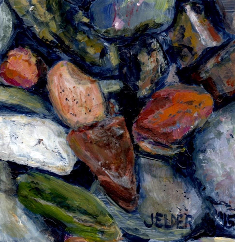 """Orcas Island Rocks"" original fine art by Judith Elder"