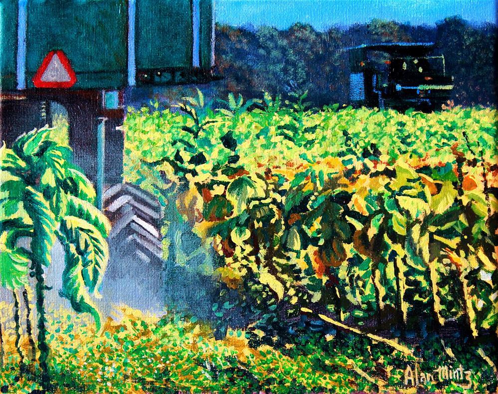 """Tobacco Harvest II"" original fine art by Alan Mintz"
