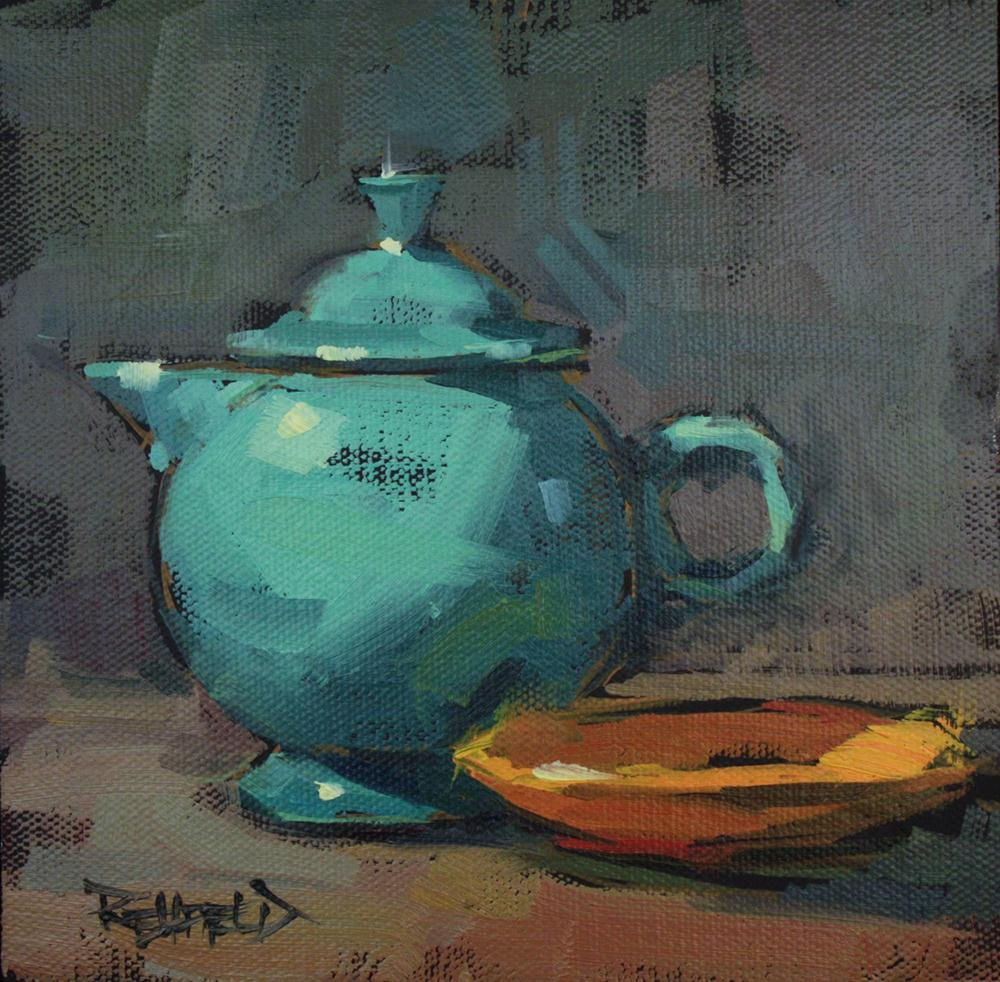 """My Favorite Tea Pot"" original fine art by Cathleen Rehfeld"