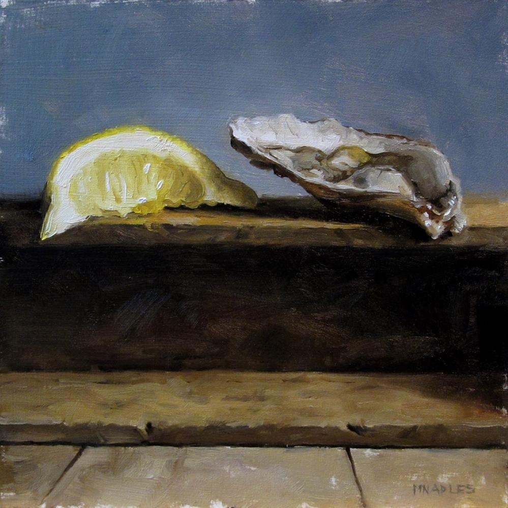 """Oyster with Lemon"" original fine art by Michael Naples"