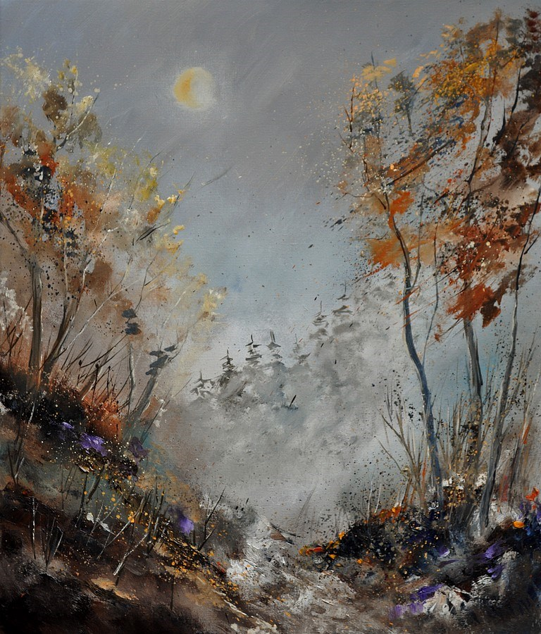 """in the wood 3121"" original fine art by Pol Ledent"