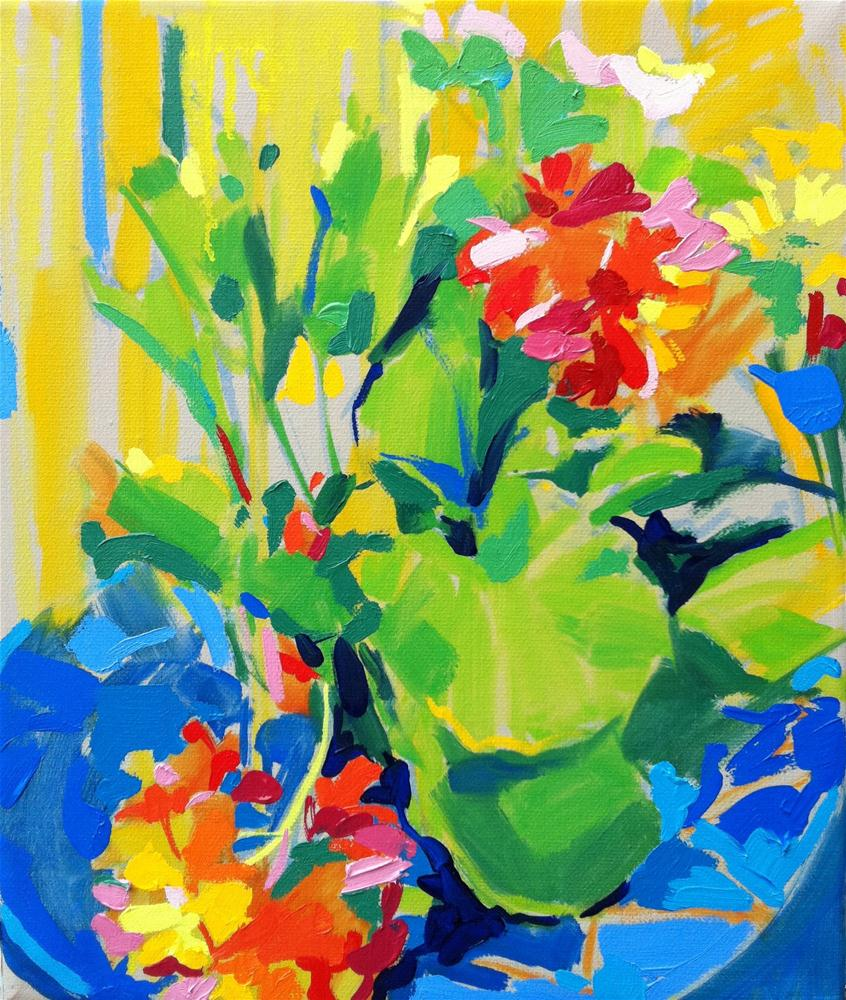 """Bold and bright!"" original fine art by Haidee-Jo Summers ROI"