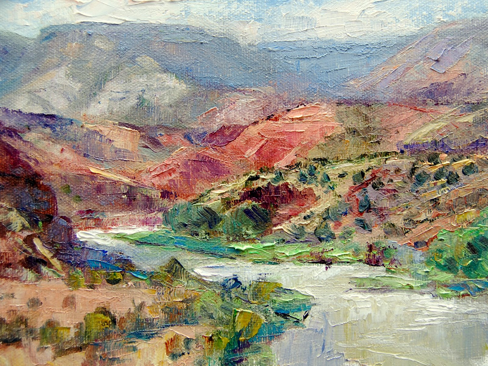 """Chama River,  Abiquiu, NM."" original fine art by Julie Ford Oliver"