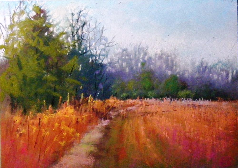 """Solitary path"" original fine art by Celine K.  Yong"
