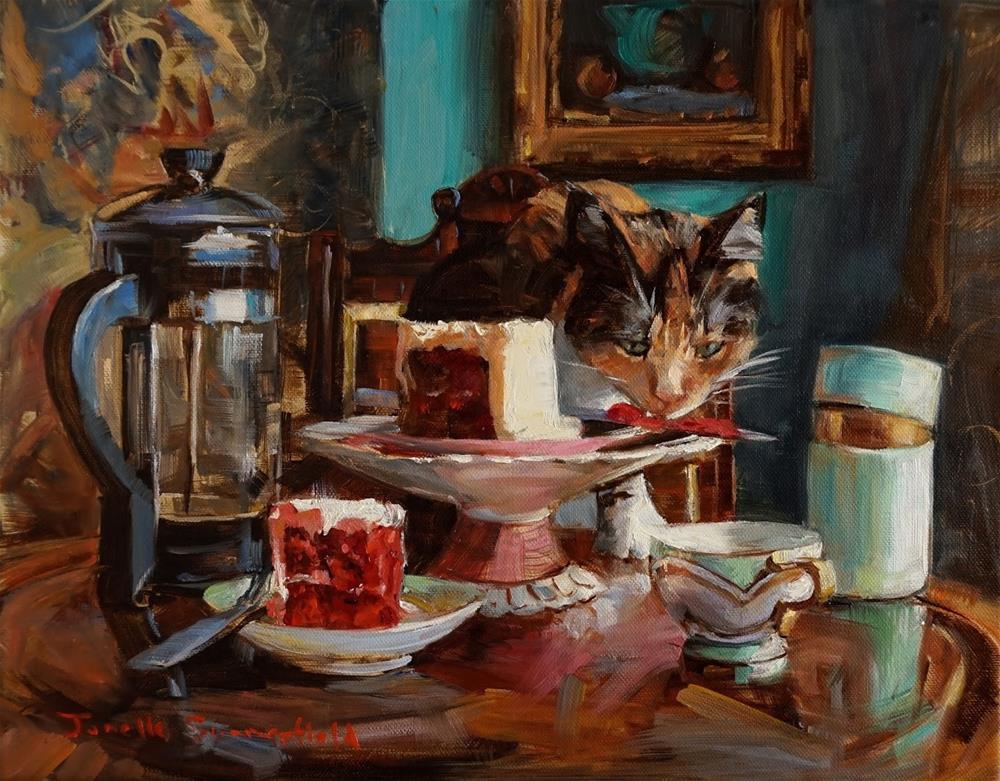 """Cake Thief II"" original fine art by Jonelle Summerfield"