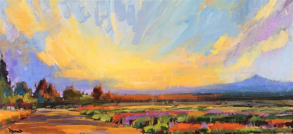 """Sunrise Splendor on The Farm"" original fine art by Cathleen Rehfeld"