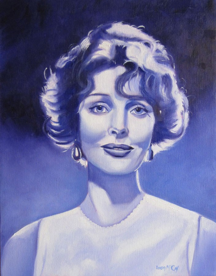 """Loretta Young, Oil Painting by Linda McCoy"" original fine art by Linda McCoy"