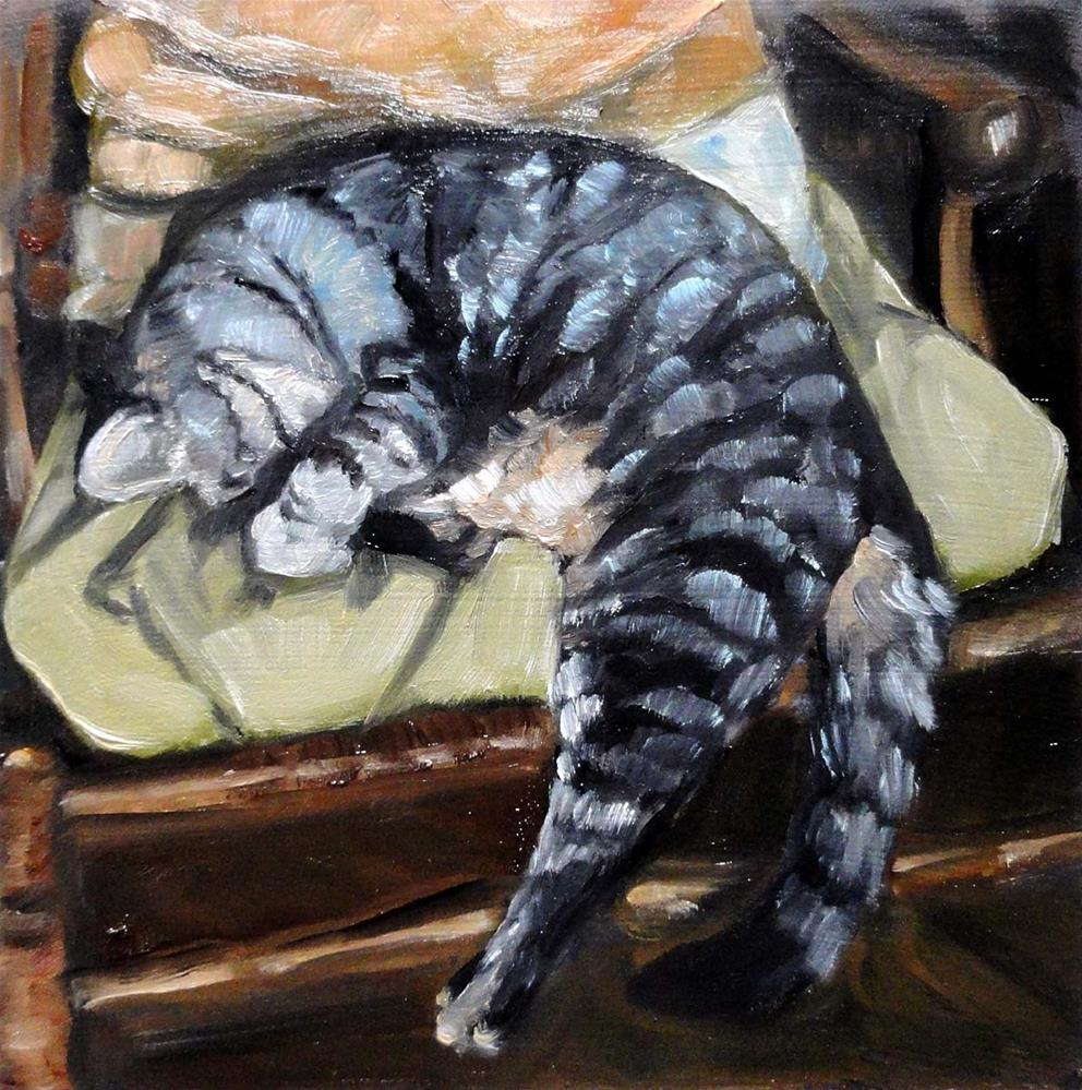 """Caught Napping"" original fine art by Cietha Wilson"