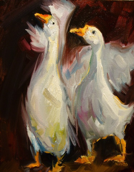 """ARTOUTWEST QUACKERS DUCKS By Diane Whitehead Animal Art"" original fine art by Diane Whitehead"
