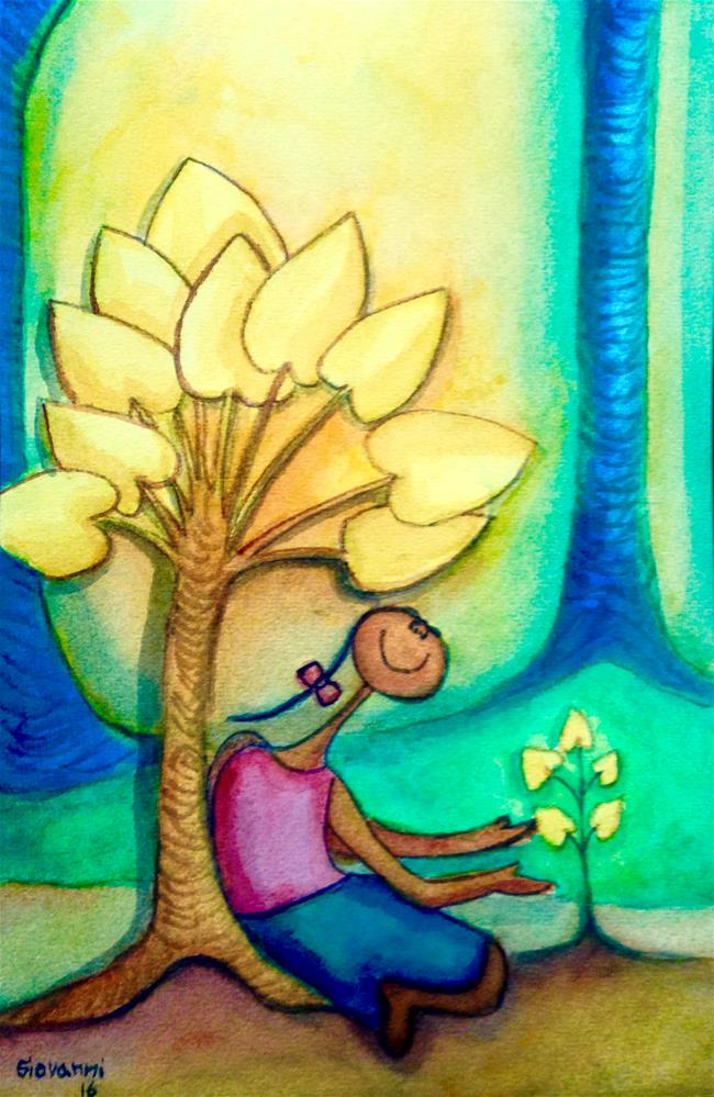 """Plant a tree"" original fine art by Giovanni Antunez"