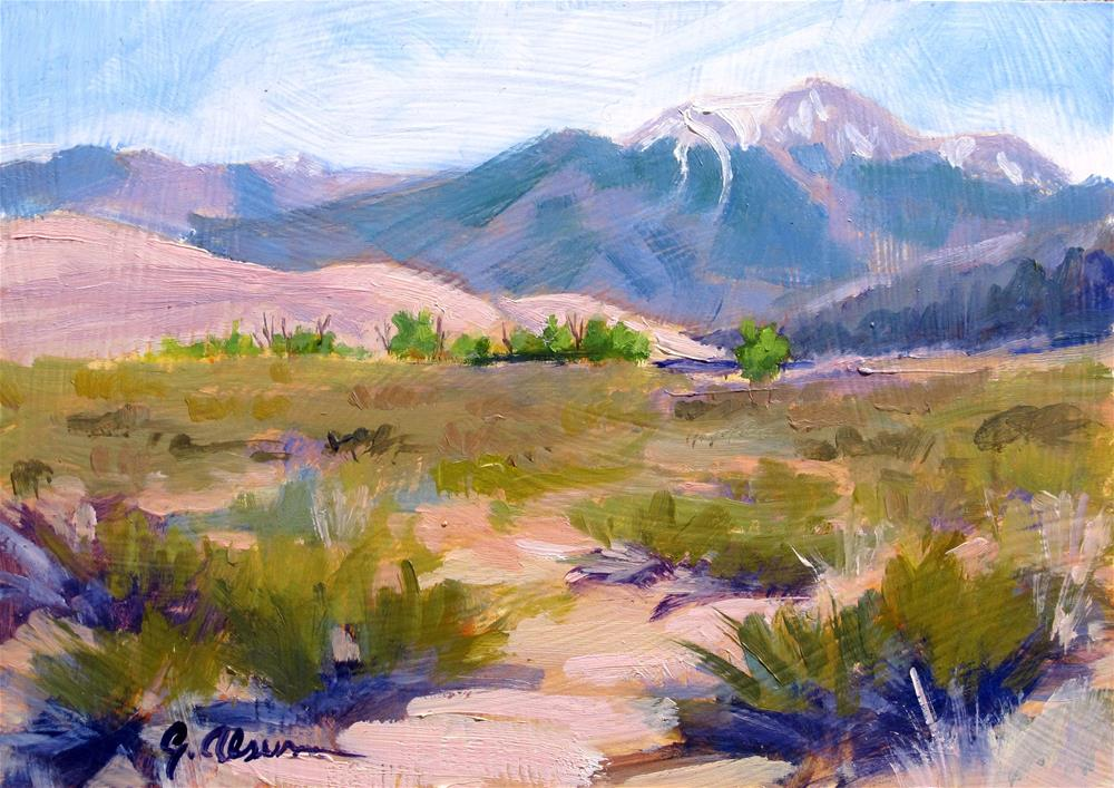 """Colorado Dunes"" original fine art by Gary Alsum"