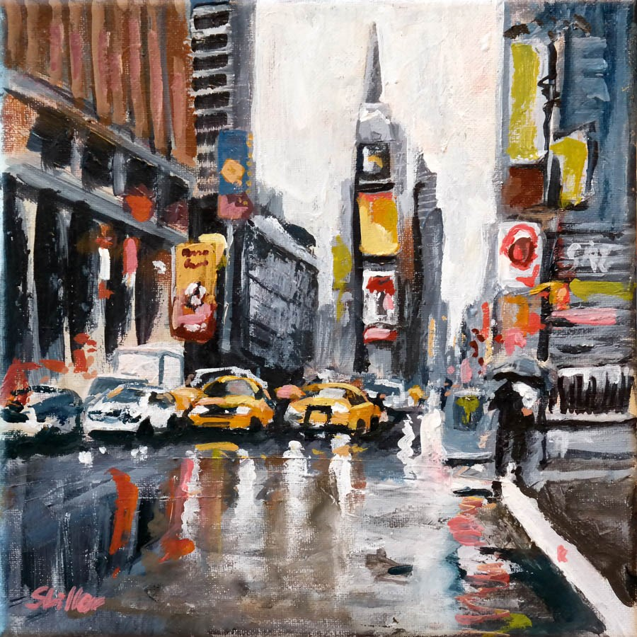 """1589 Times Square"" original fine art by Dietmar Stiller"