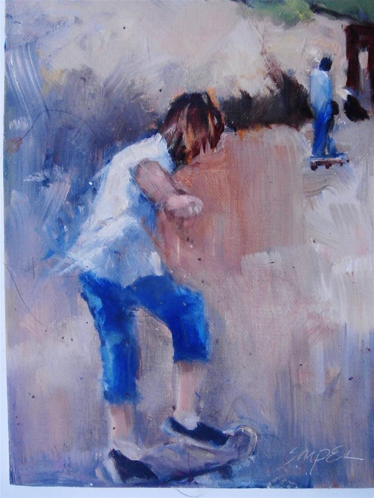 """Skater Dude"" original fine art by Connie Snipes"