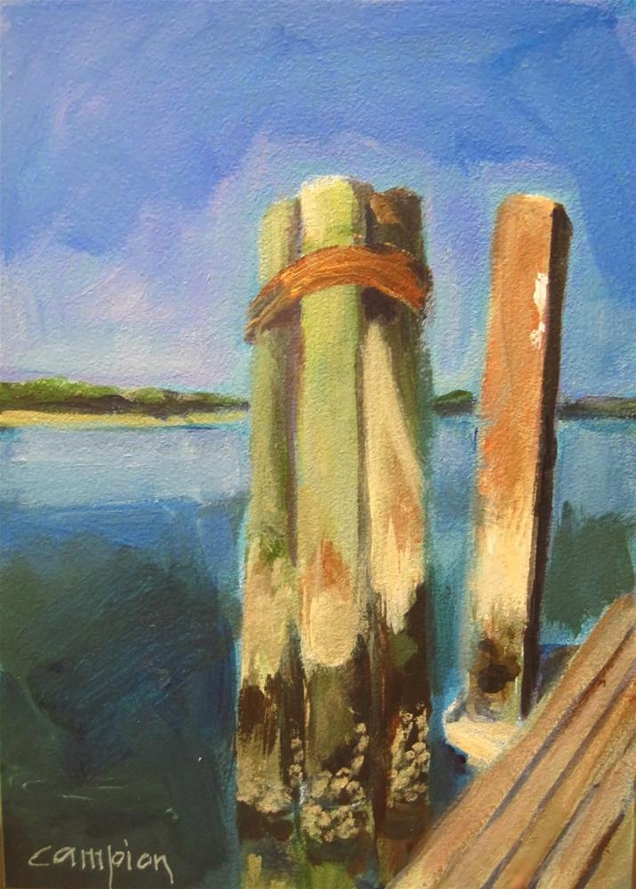 """211 Dock at Bluffton"" original fine art by Diane Campion"