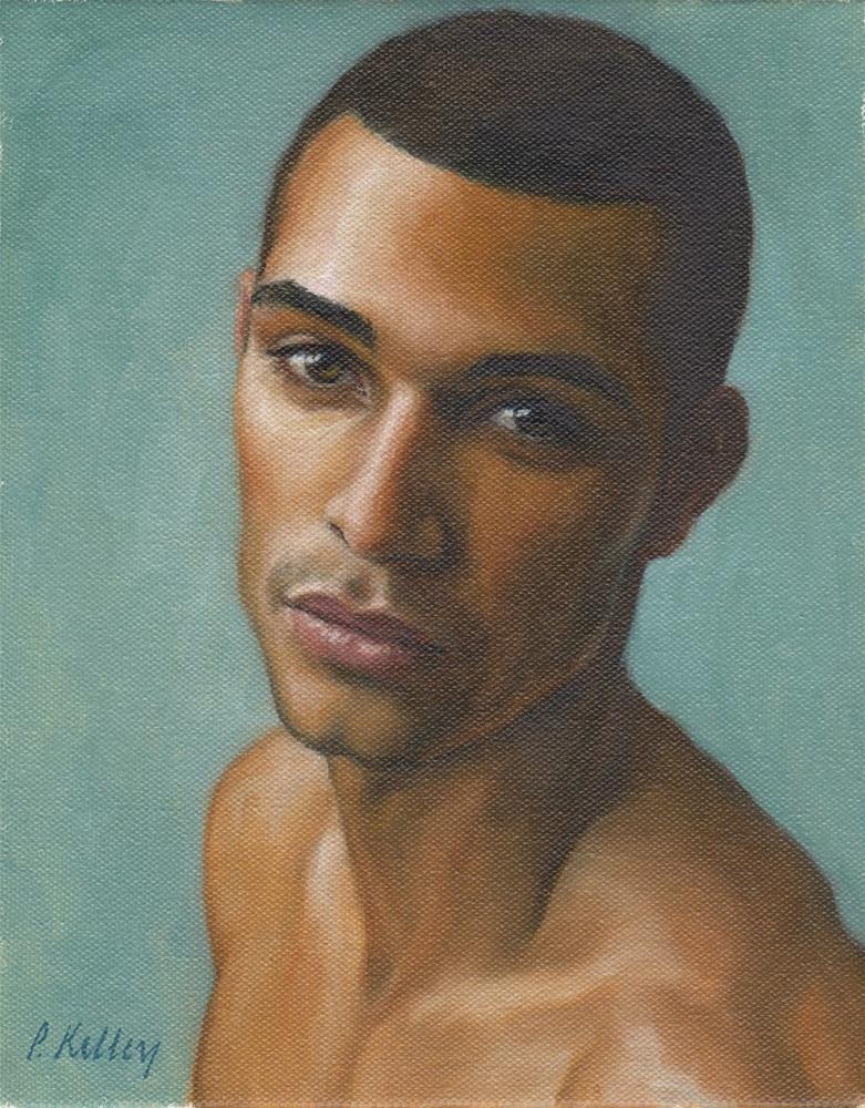"""Portrait of a Young Man"" original fine art by Pat Kelley"