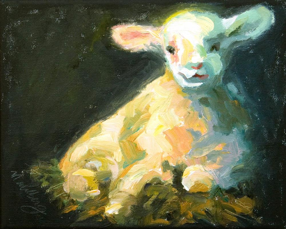 """The Lamb"" original fine art by Cynthia Mahlberg"
