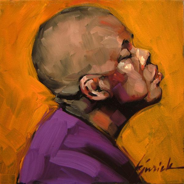 """100 Faces, No. 61"" original fine art by Karin Jurick"