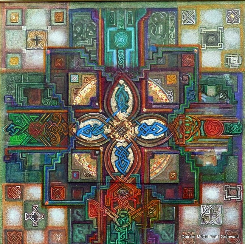 """Many Crosses"" original fine art by Deirdre McCullough Grunwald"