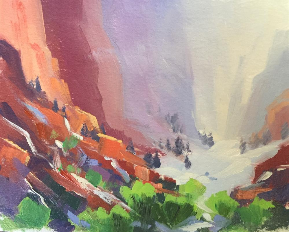 """Kolob Canyons 6"" original fine art by Mary Jabens"