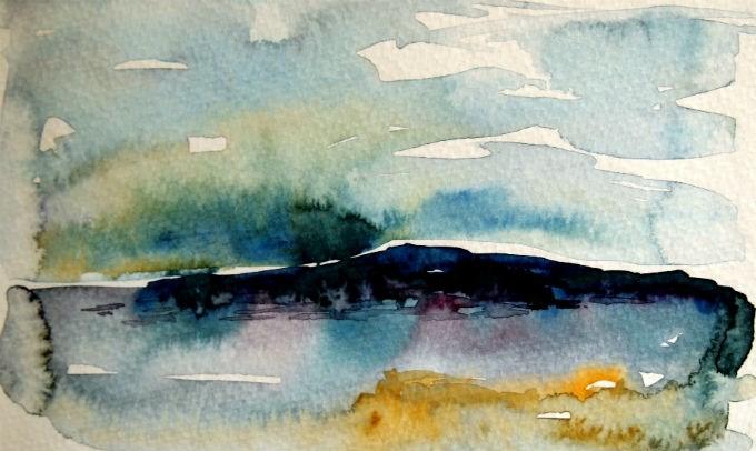 """View Towards Mackinac"" original fine art by Amy Bryce"