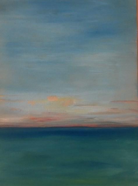 """Caribbean Sunrise"" original fine art by Karen Collins"