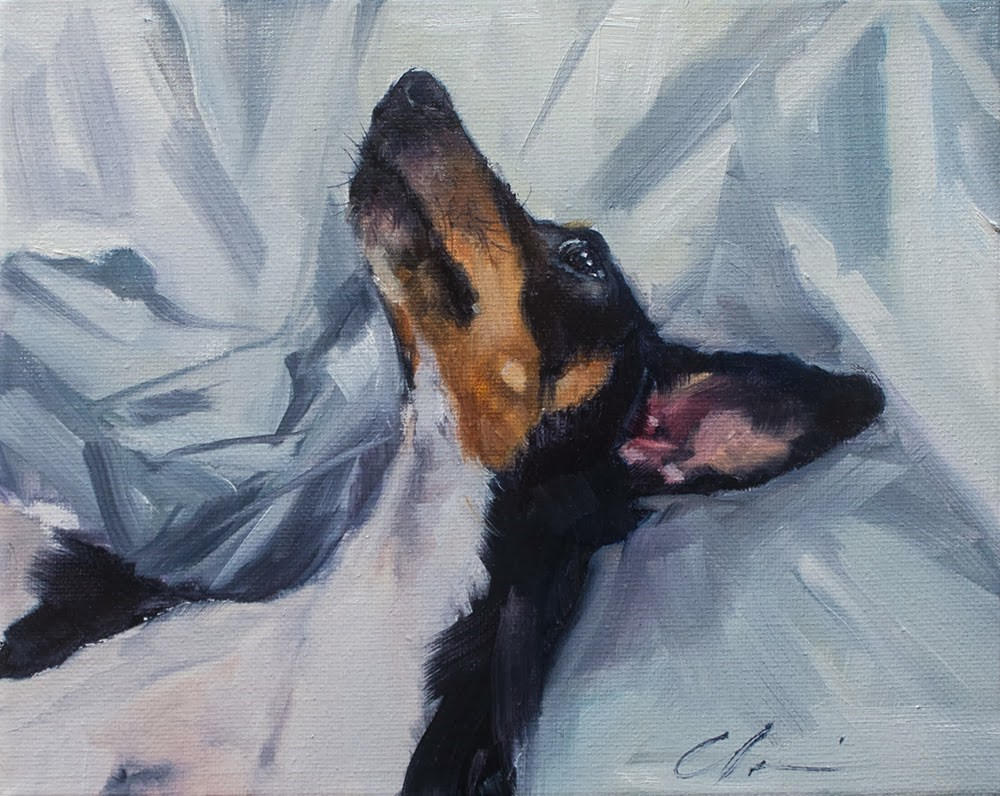 """Alright Mr. DeMille, I'm ready for my close-up"" original fine art by Clair Hartmann"