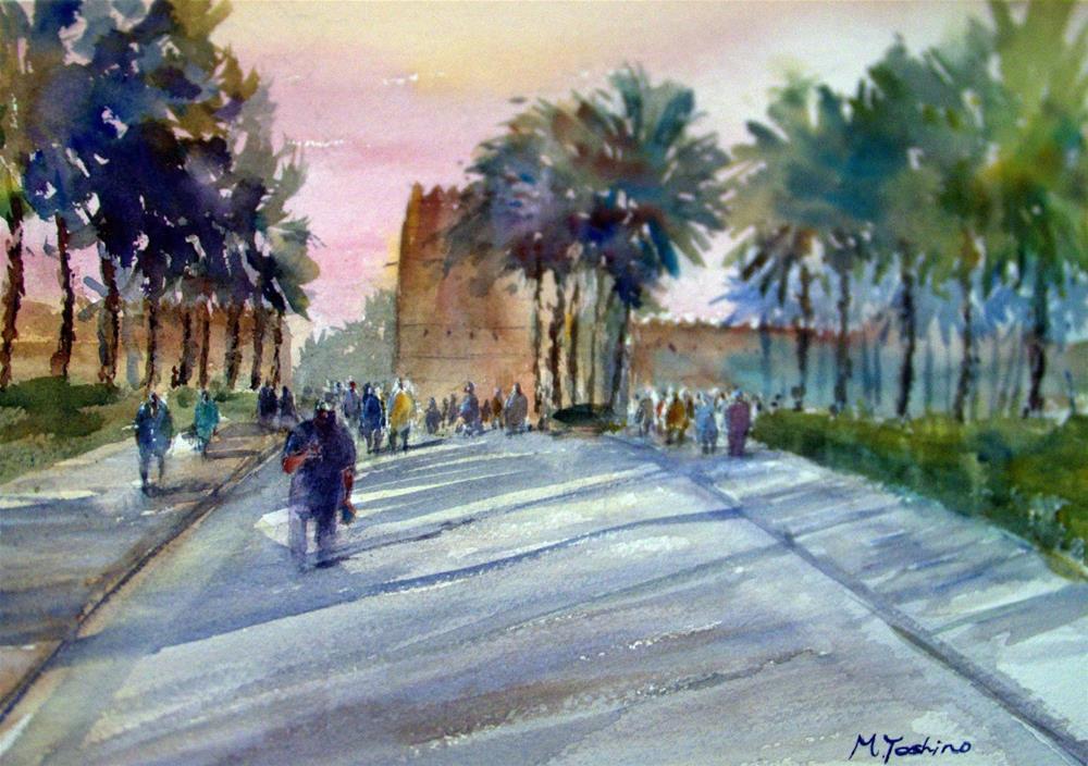 """Al Muwaji Fort, Al Ain."" original fine art by Midori Yoshino"