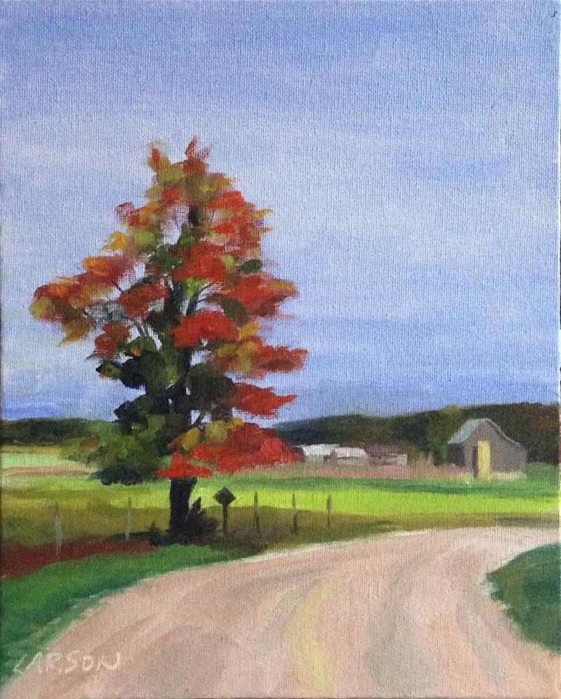 """Around the Bend"" original fine art by Eric Larson"