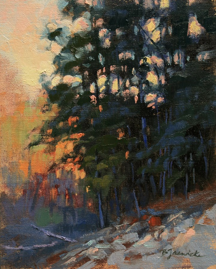 """Evening Glow"" original fine art by Barbara Jaenicke"