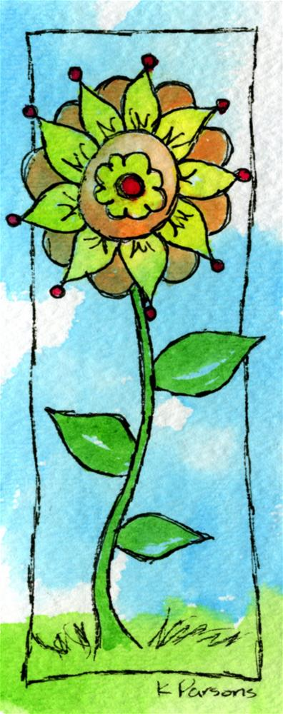 """Fabulous Doodle Flower"" original fine art by Kali Parsons"