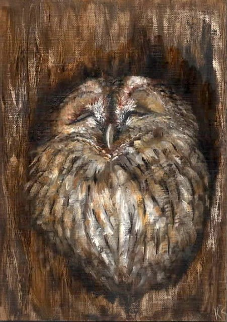 """5 tweets in 5 days (no 5)"" original fine art by Karen Robinson"