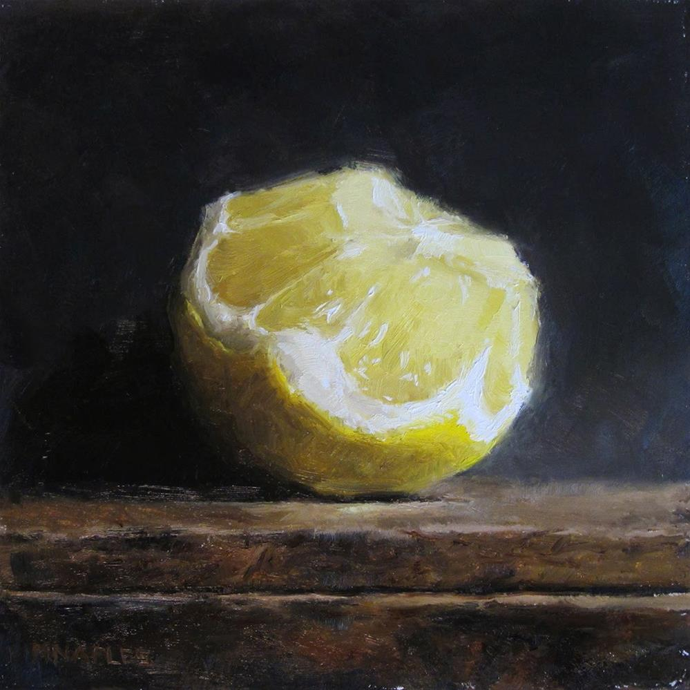 """Chopped Lemon"" original fine art by Michael Naples"