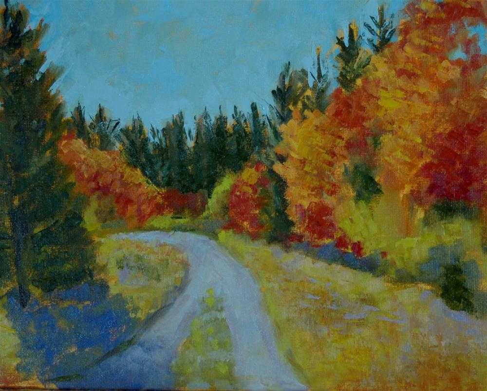 """Autumn Path"" original fine art by Carol Pighin"