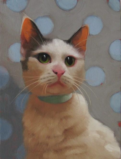 """Green Eyed Glenda"" original fine art by Diane Hoeptner"