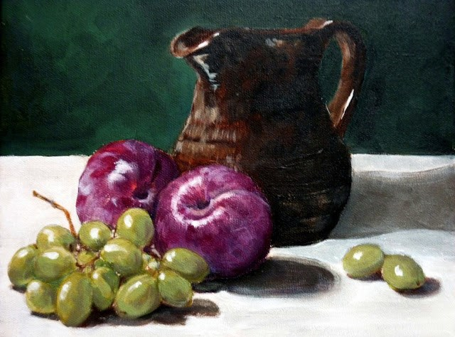 """Plum Happy"" original fine art by Helene Adamson"