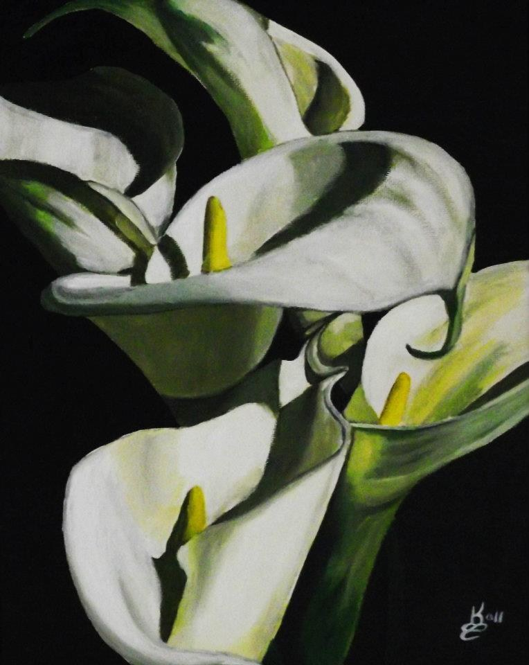 """Calla"" original fine art by Kim Selig"