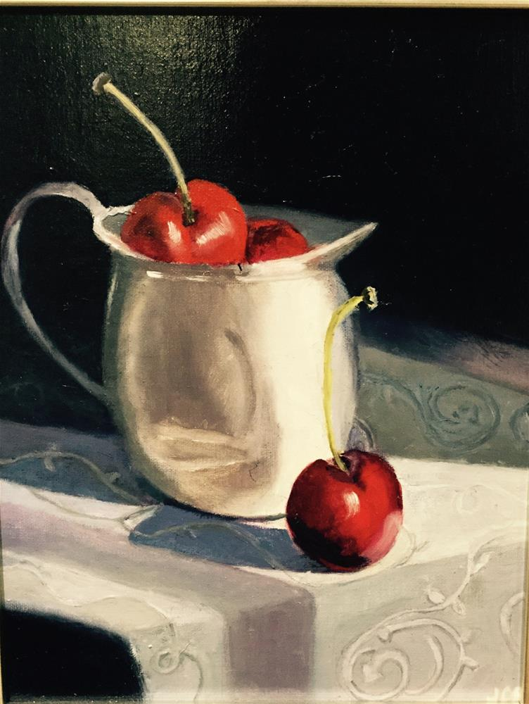 """Cherries in the Sun"" original fine art by Jeanne Bossart"