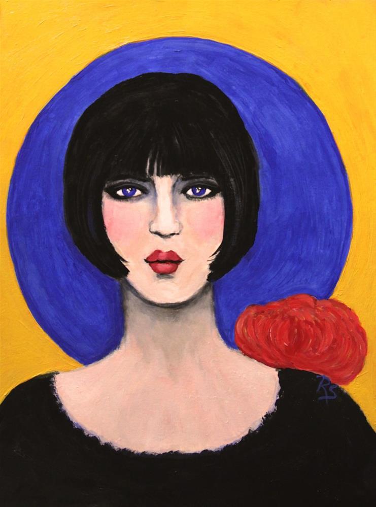 """""""Blue Moon"""" original fine art by Roberta Schmidt"""