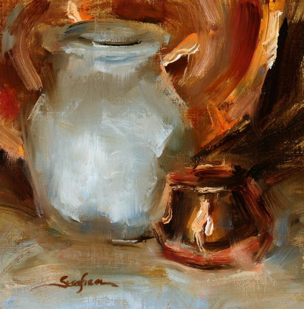 """Lighted Copper"" original fine art by Scott Serafica"