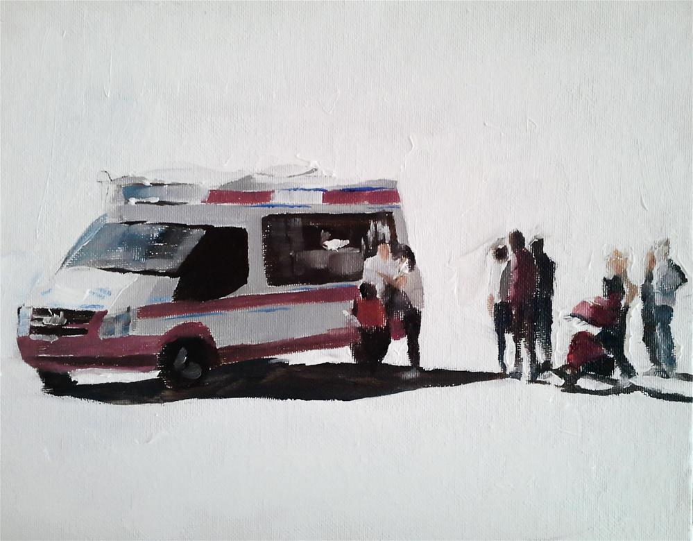 """Ice Cream Van"" original fine art by James Coates"
