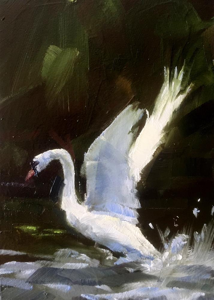 """Chasing Ducks"" original fine art by Gary Bruton"