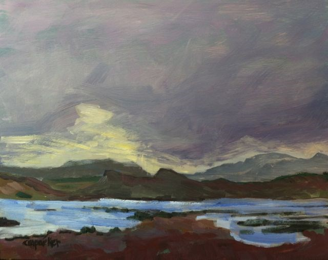 """Iceland (Northwest)"" original fine art by Christine Parker"