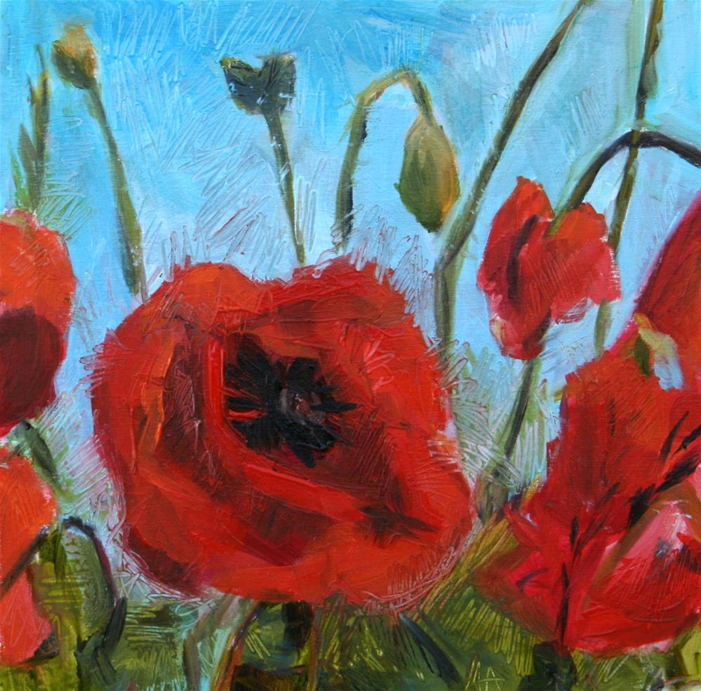 """Poppies in June"" original fine art by Aniko Makay"