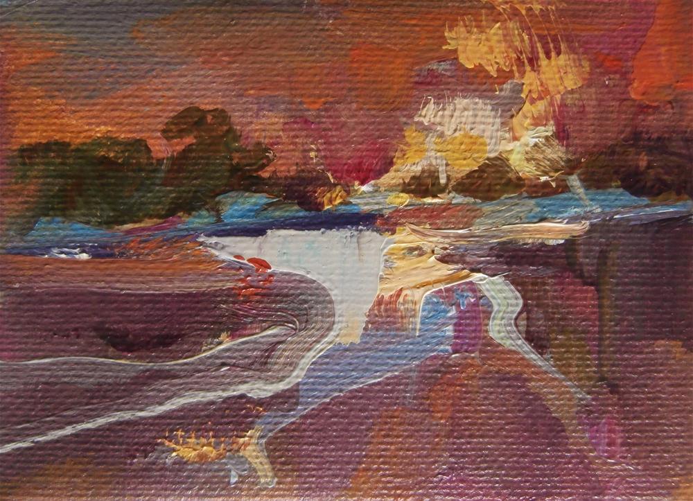 """""""Ruby Skies"""" original fine art by Anne Wood"""