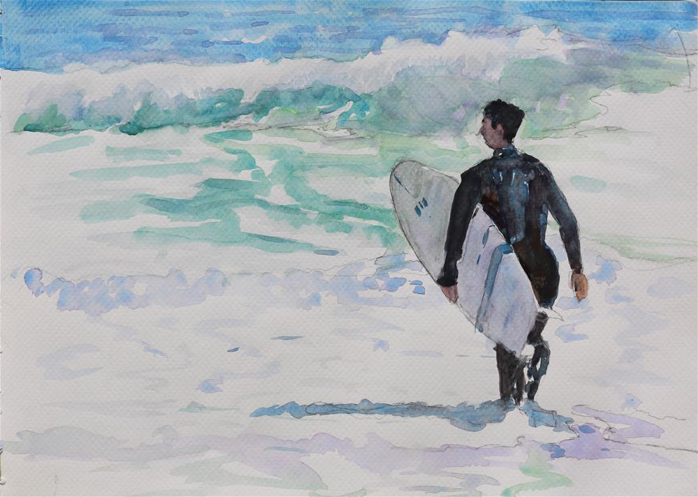 """Surf is Up"" original fine art by Michael Saunders"