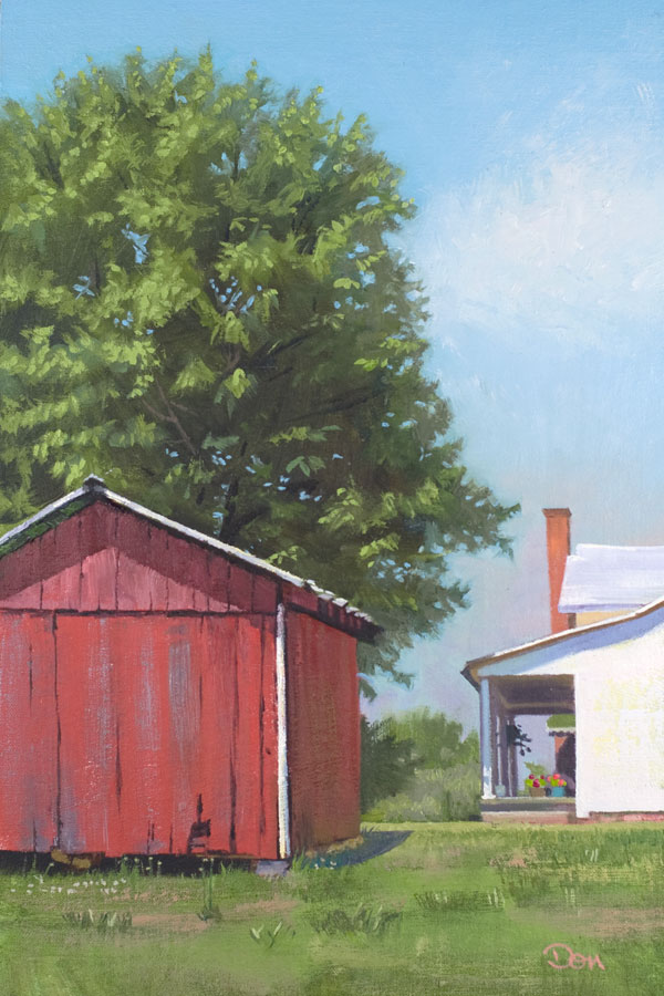 """Backyard Smokehouse"" original fine art by Don Stewart"